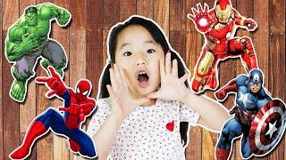슈퍼히어로 색칠놀이 헐크 아이언맨 스파이더맨 Suji and Wrong Superheroes Puzzle