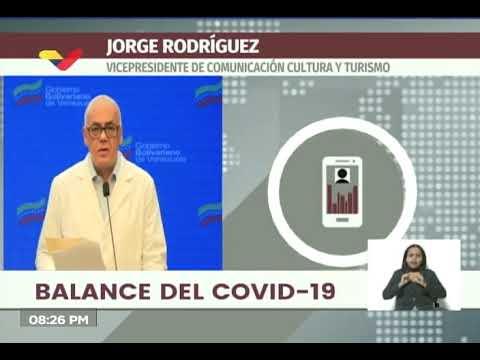 Reporte Coronavirus Venezuela, 12/07/2020: Jorge Rodríguez informa 287 casos y 4 fallecidos