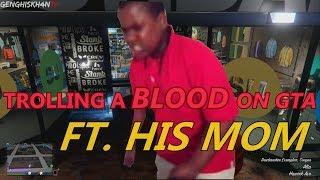 ANGRY BLOOD KID RAGES (Mom Comes on Mic) GTA 5 GANGS