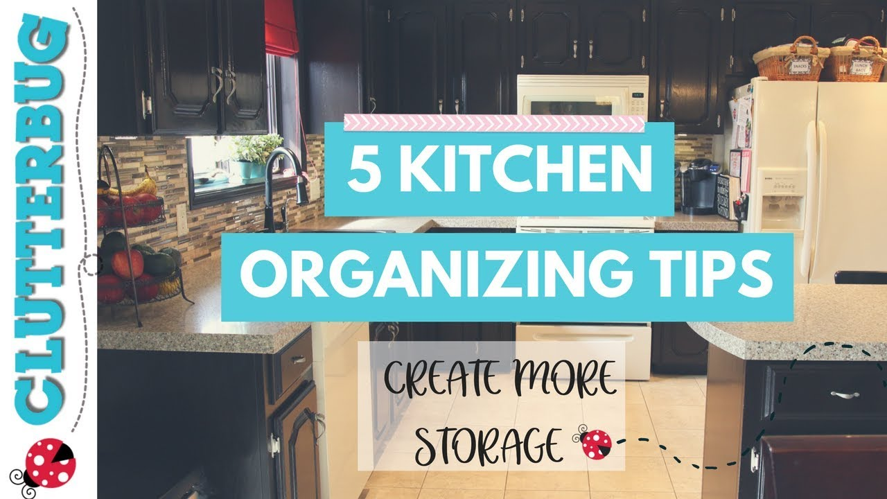 5 Tips & Ideas to Organize Your Kitchen and Create More Storage ...