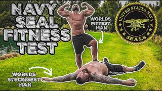 World's Strongest Man Tries Navy Seal Fitness Test | Passes?!