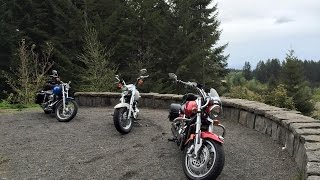 Out with a couple of hooligans on harleys