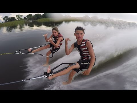 11 Year Olds Water Ski with Bare Feet