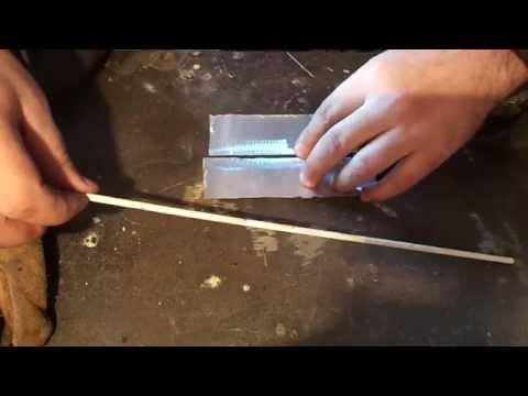Aluminum welding electrodes for aluminum. Сварка алюминия электродами по алюминию.