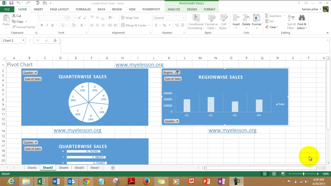 Create Charts with Filters in Excel - YouTube