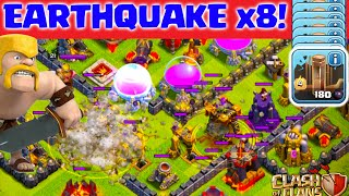 Clash of Clans ♦ EIGHT Earthquake Spells in Titan League! ♦ CoC ♦