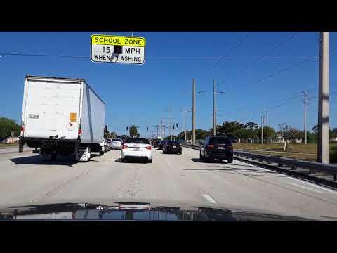 Miami, Florida. Driving from Pembroke Pines to Dania Beach