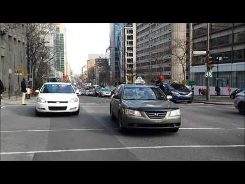 Taxi drivers protest against UBER - Manifestation des chauffeurs taxi contre UBER - Montreal