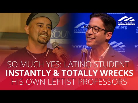 SO MUCH YES: Latino student INSTANTLY & TOTALLY wrecks his own leftist professors