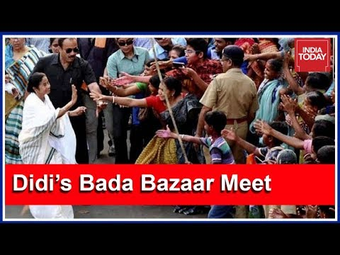 Mamata Banerjee Meets Traders In Bada Bazaar In Kolkata
