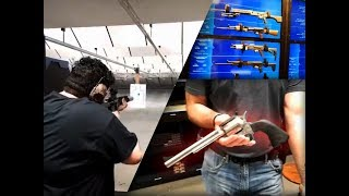Shooting GUNS For The FULL Texas Experience w/ Trainwreckstv