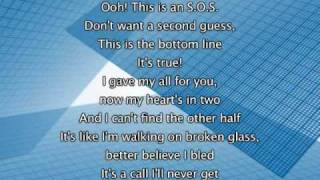 Jonas Brothers - S.O.S, Lyrics In Video