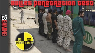 One of N&B Gaming's most viewed videos: The Bullet Penetration Test - San Andreas Test Dummies Ep. 35 - GTA 5 Funny Moments Montage