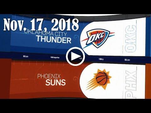 2018.11.17 NBA DAILY RECAP : OKC @ PHX