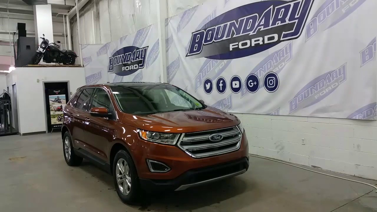 2017 Ford Edge Sel W 2 0l Ecoboost Leather Sunroof Review Boundary