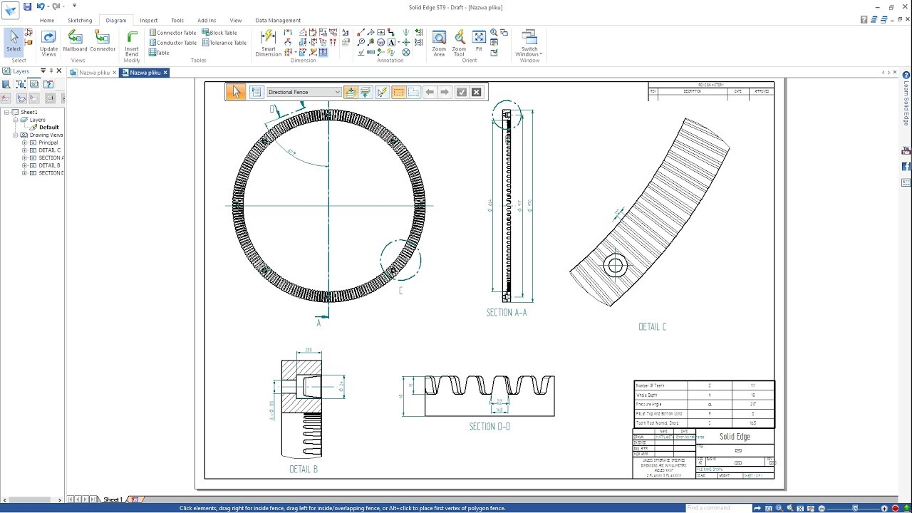 maxresdefault solid edge st9 gear ring drawing concrete mixer youtube