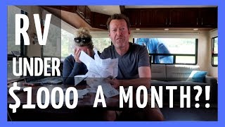 RV Living Full Time For Under $1000 A Month - Could You Do It? (RV Life)