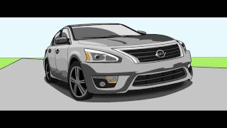 How to Draw A Nissan Altima - 2013 - GT Nation - 2017
