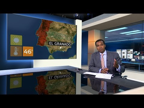 Extreme weather 2018 - (Iberian peninsula (Portugal & Spain)) - ITV News - 3rd August 2018