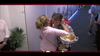 Roger Federer meets wife MIRKA after winning Australian Open