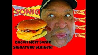 SONIC® Drive-In Bacon Melt Signature Slinger REVIEW!