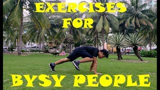 5 BEST Exercises for BUSY People - 5mins Trainning Home Workout
