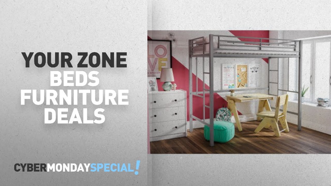 Walmart top cyber monday your zone beds furniture deals for Furniture zone beds