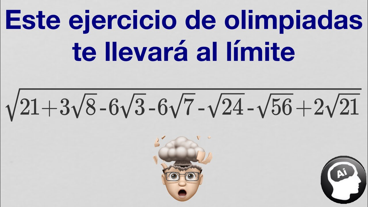 """¿Puedes resolver este """"duro"""" ejercicio de olimpiadas matematicas?"""