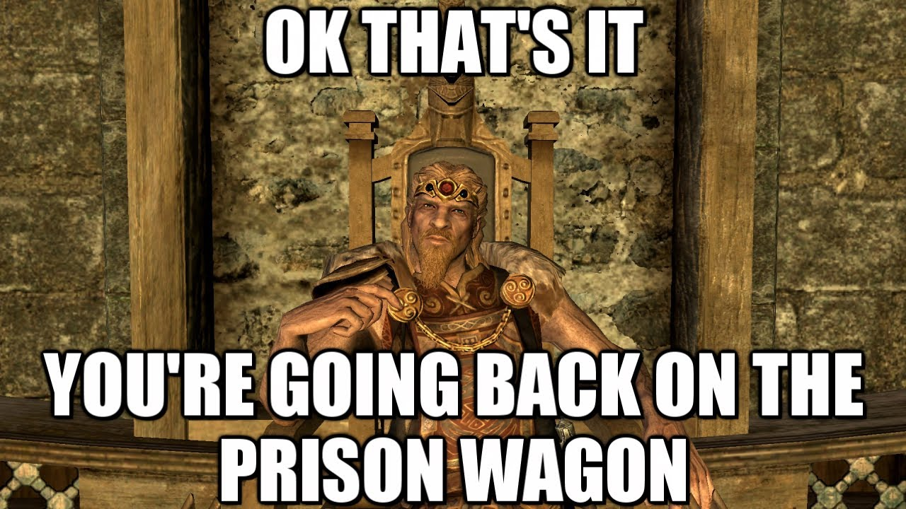 YOU'RE GOING BACK ON THE PRISON WAGON