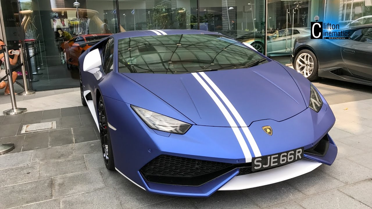ud lamborghini huracan matte blue and white wrap new look ultimate drive