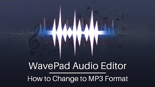 How to Change to MP3 Format | WavePad Audio Editing Software Tutorial screenshot 4