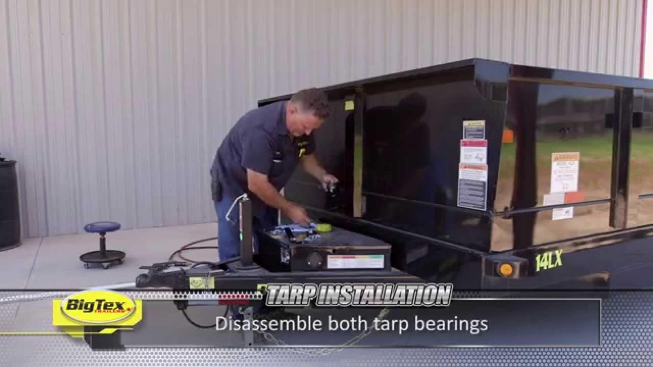 Big Tex How To Install Dump Tarp Youtube Hotshot Trailer Wiring Diagram