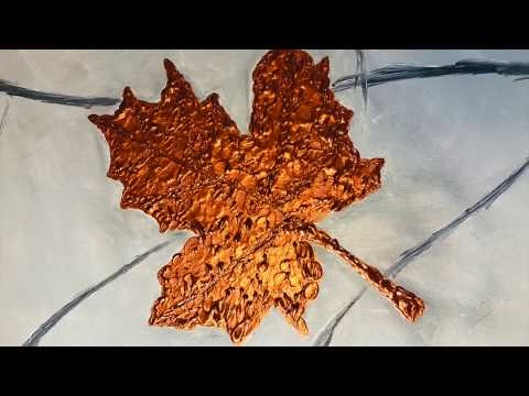 Maple Leaf Painting! 3D Painting Art! Acrylic Metallic Painting! ~ Luxurimative ~ Abstract Art!