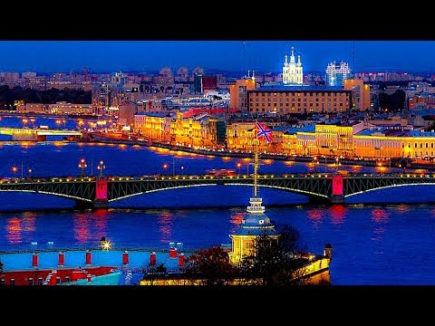 Night Departure From The Port of St. Petersburg, Russia
