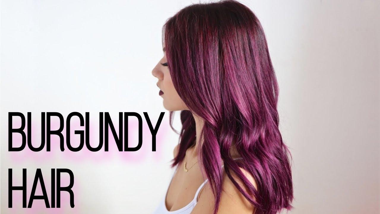 How To Dark Burgundy Hair Dye At Home Youtube