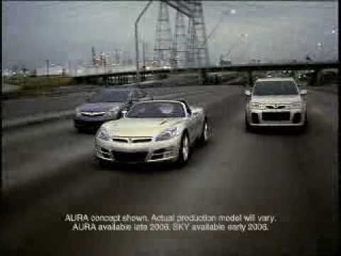2007 Saturn Sky Roadster coupe tv ad