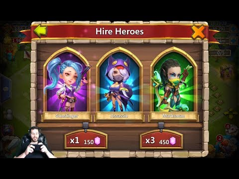 30k For Heroes SlimShady Needs Rockno + Ronin Lucky Prospector Castle Clash
