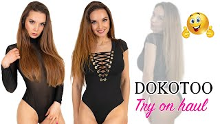 BODYSUITS & LINGERIE FROM DOKOTOO TRY ON HAUL