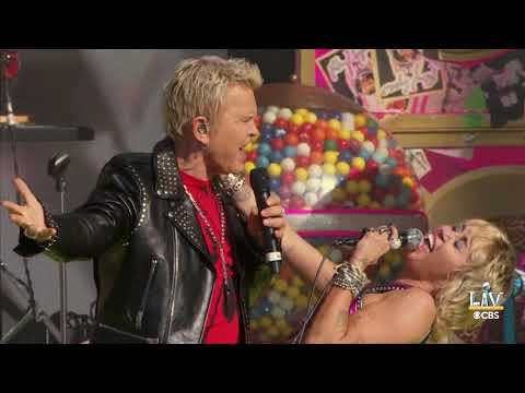 Miley Cyrus and Billy Idol Perform Before the Super Bowl | Tampa, Florida