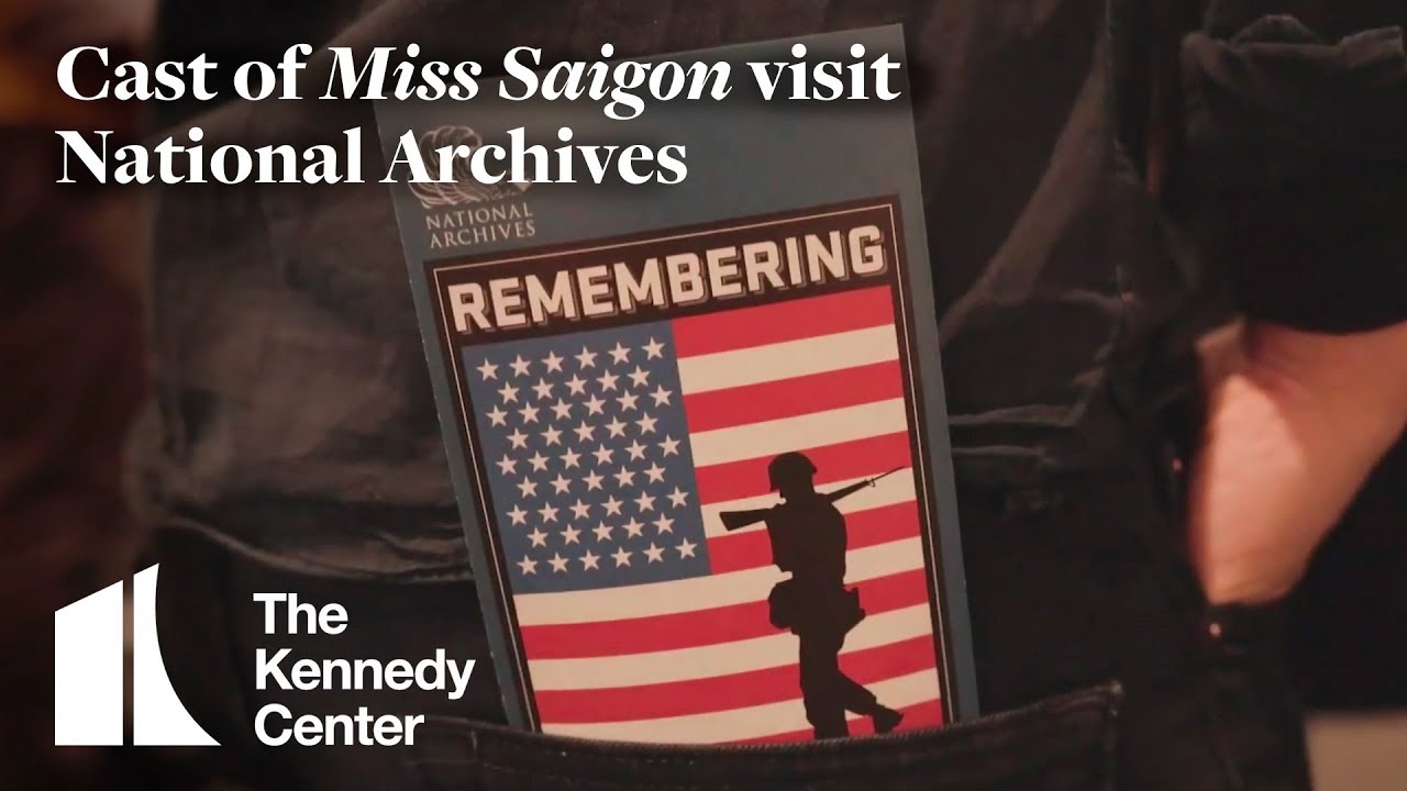 The Cast of Miss Saigon Visit National Archives