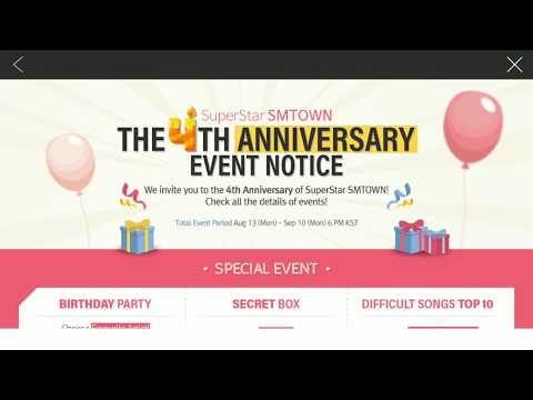 SuperStar SMTOWN | The 4th Anniversary Event Birthday Party