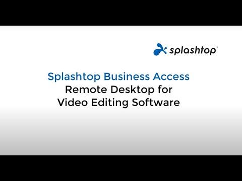 Desktop remoto para software de edição de vídeo