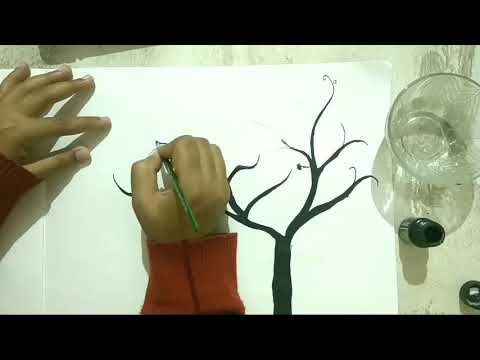 How To Make Tree Silhouette Dead Tree Easy Drawing Youtube