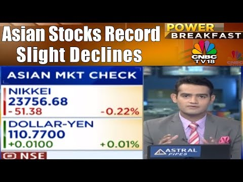 Asian Stocks Record Slight Declines | Power Breakfast (Part 01) | CNBC TV18