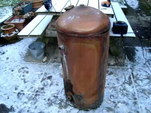 OLD HOT WATER CYLINDER TANK, INSIDE. OMG - YouTube