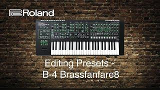 Roland System-8 - Editing Presets - B-4 Brassfanfare8