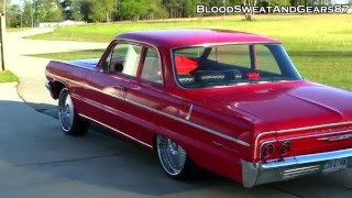 My 1964 Chevrolet Bel Air SQUATTED on DUB Bellagio 22s (64 Chevy BelAir)