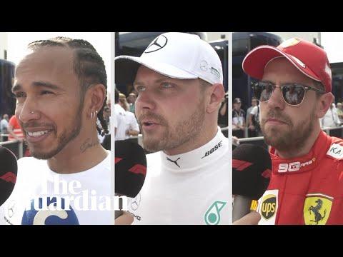 Lewis Hamilton, Valtteri Bottas and Sebastian Vettel react after French Grand Prix