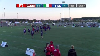 2018 WFDF World Jr. Ultimate Championships | WJUC Men: Canada vs. Italy | Aug. 22