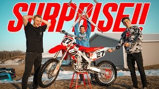 SURPRISING BEST FRIEND WITH NEW DIRTBIKE!!